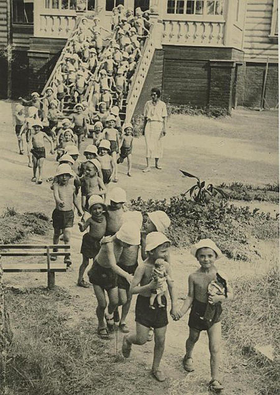 Jardín de infancia, años 30.