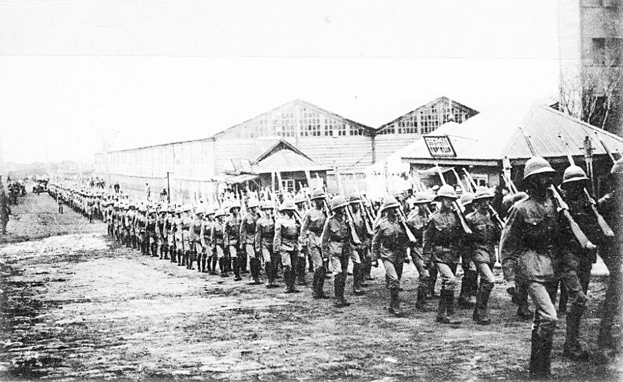 Landing of the British troops in Vladivostok