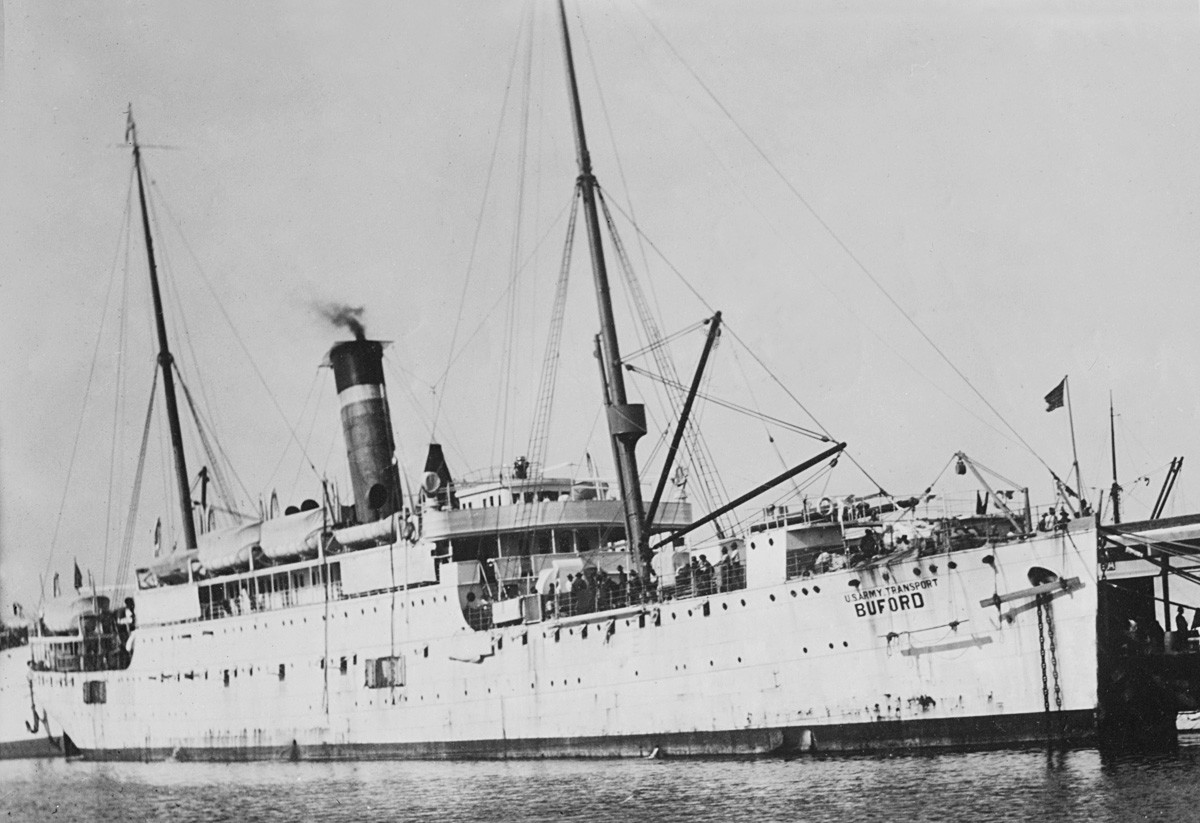 Брод USAT Buford у луци Галвестона 1915.