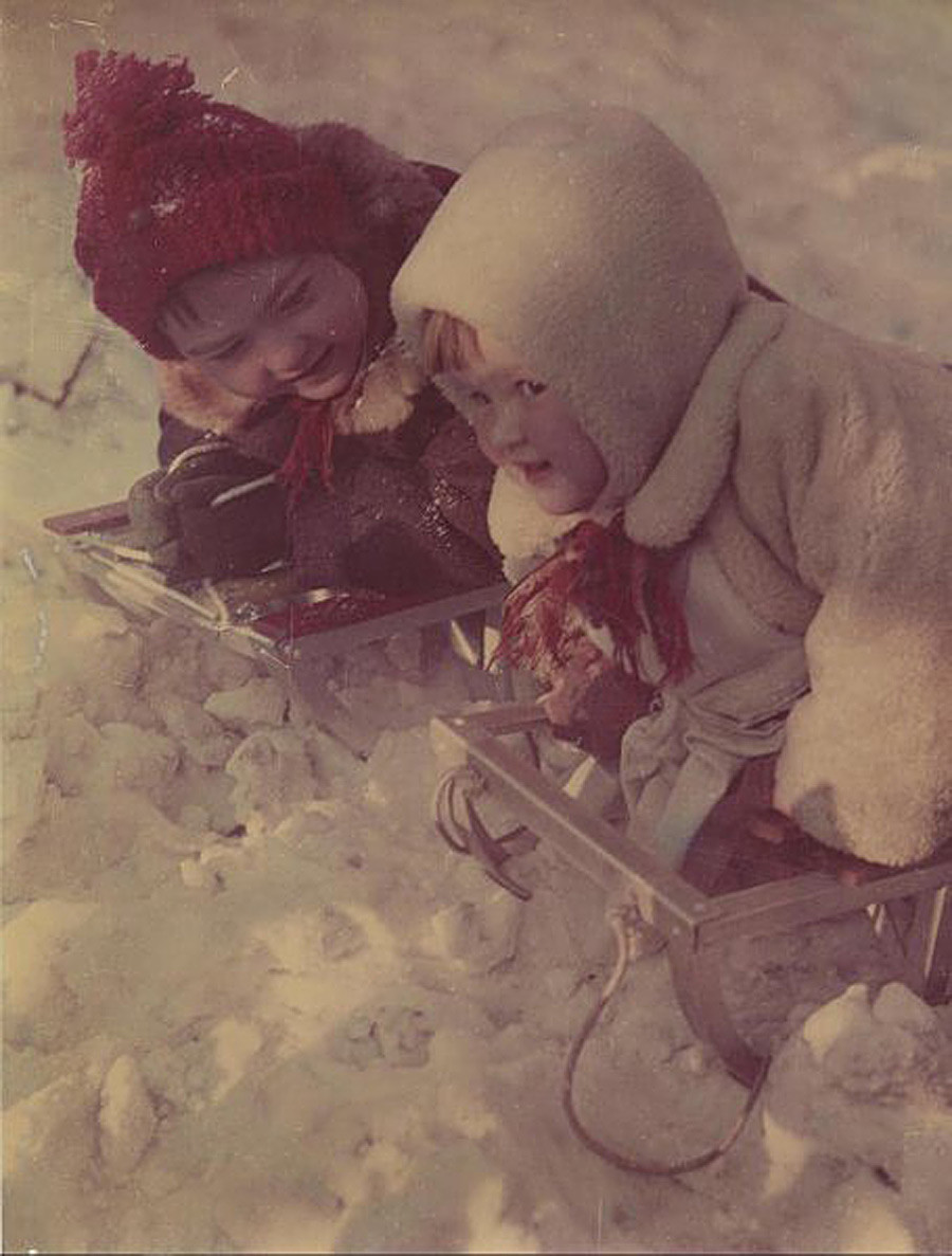 Winter fun, 1950s