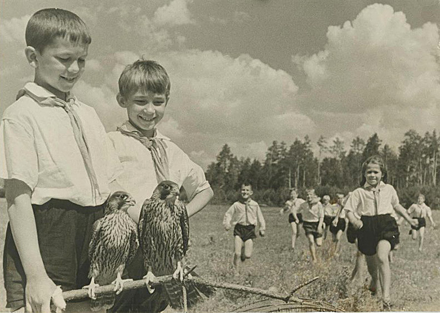 Young naturalists, 1930s