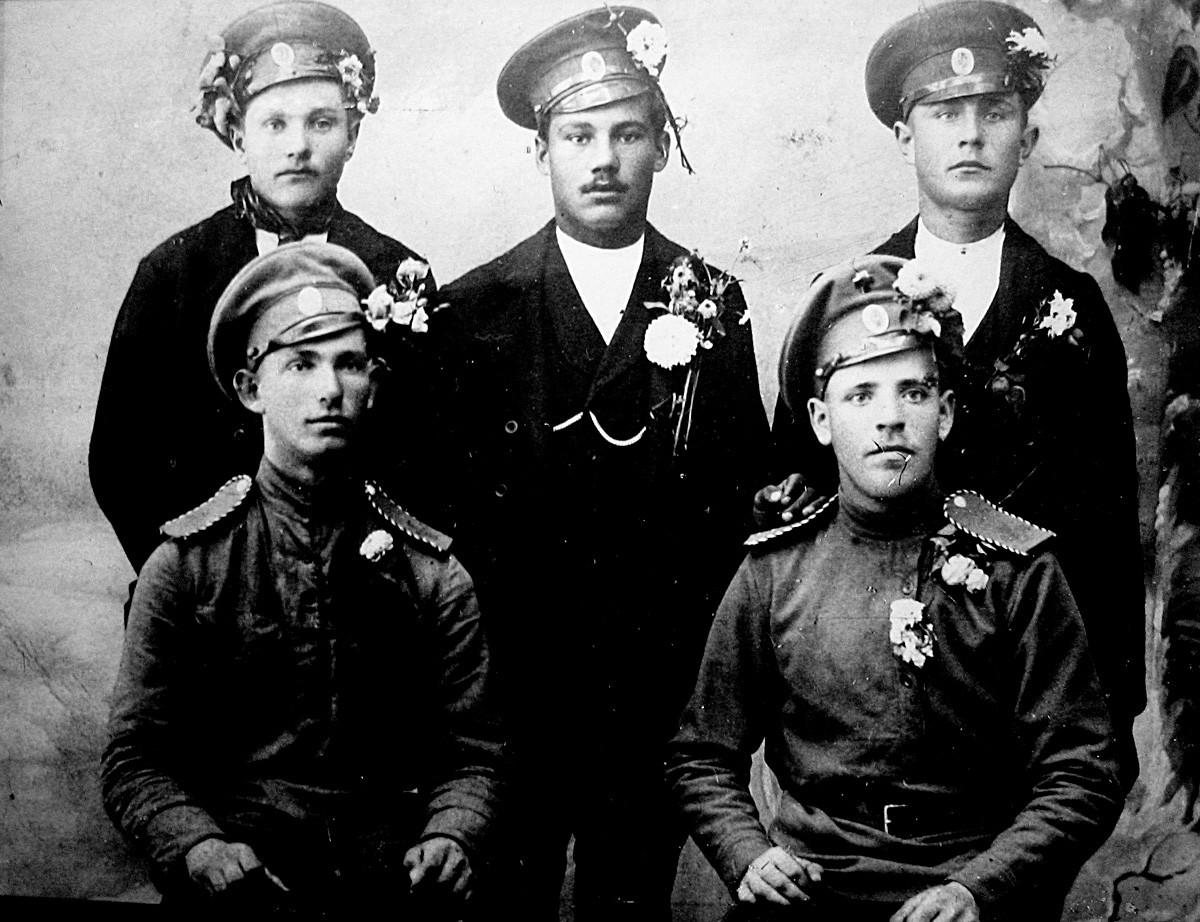Добровољци 3. Курземског батаљона 1915. године