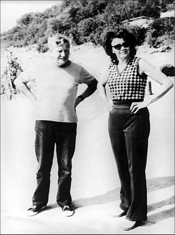 Philby s svojo rusko soprogo (70. leta)