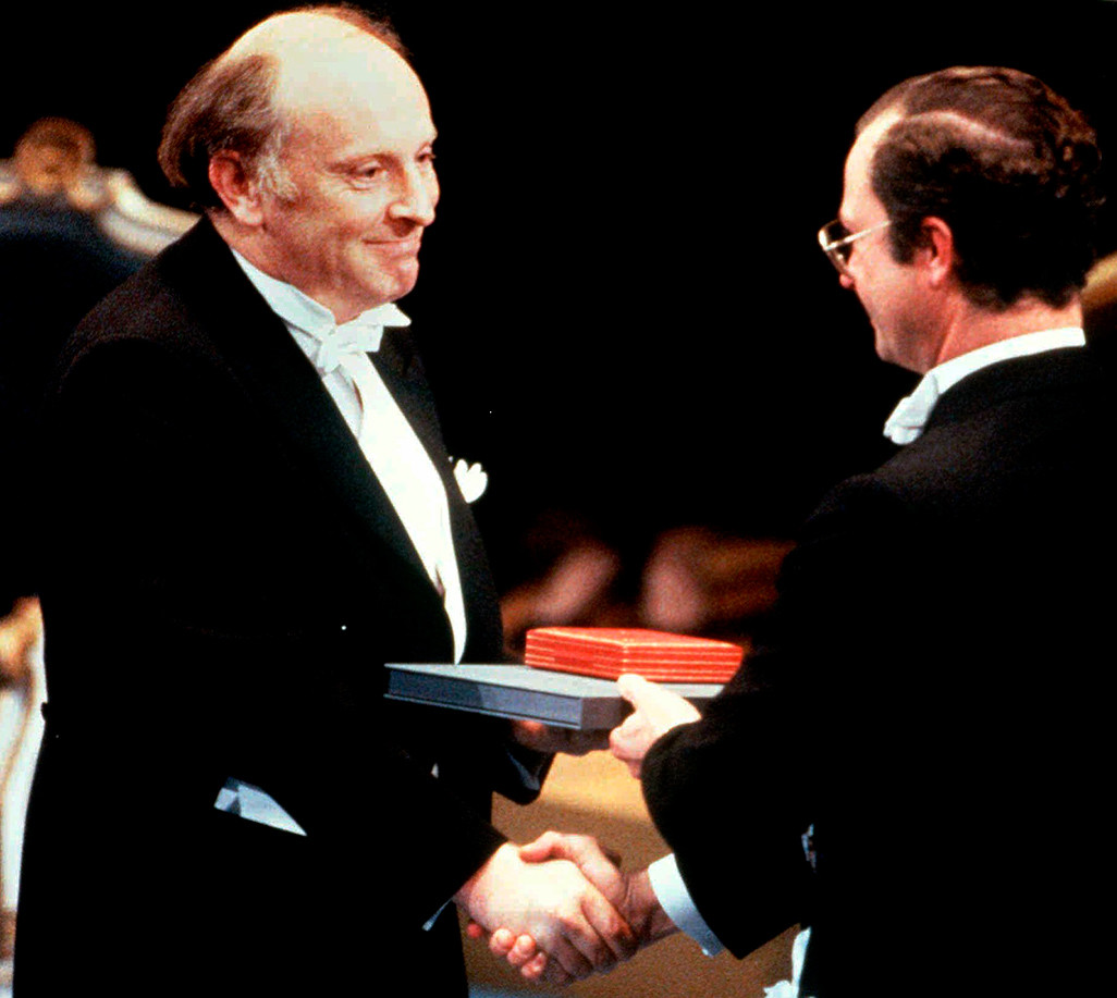 Joseph Brodsky at the Nobel Prize ceremony