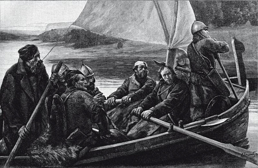 Orang-orang Ushkuinik Novgorod.