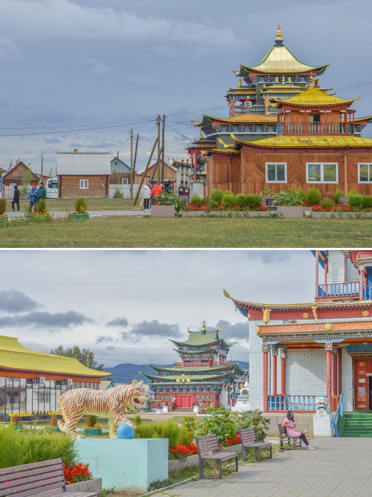 À une heure d'Oulan-Oudé, capitale de la République de Bouriatie, il n'est autre que le centre de la Sangha (communauté bouddhiste) de Russie. Il apparait ainsi comme la résidence du Pandito Khambo-lama, chef spirituel du pays.
