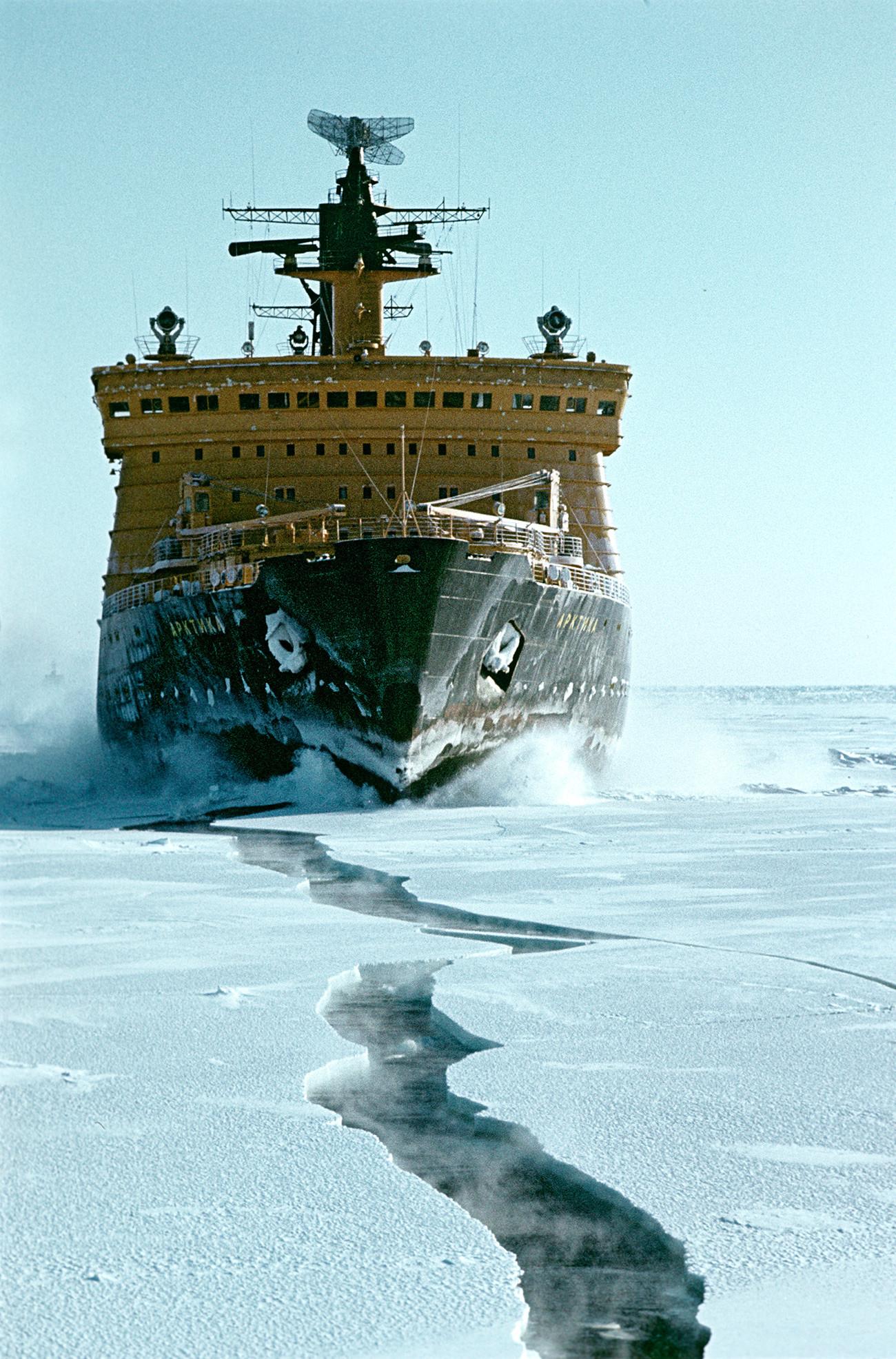 Rompehielos nuclear Árktika (Ártico).