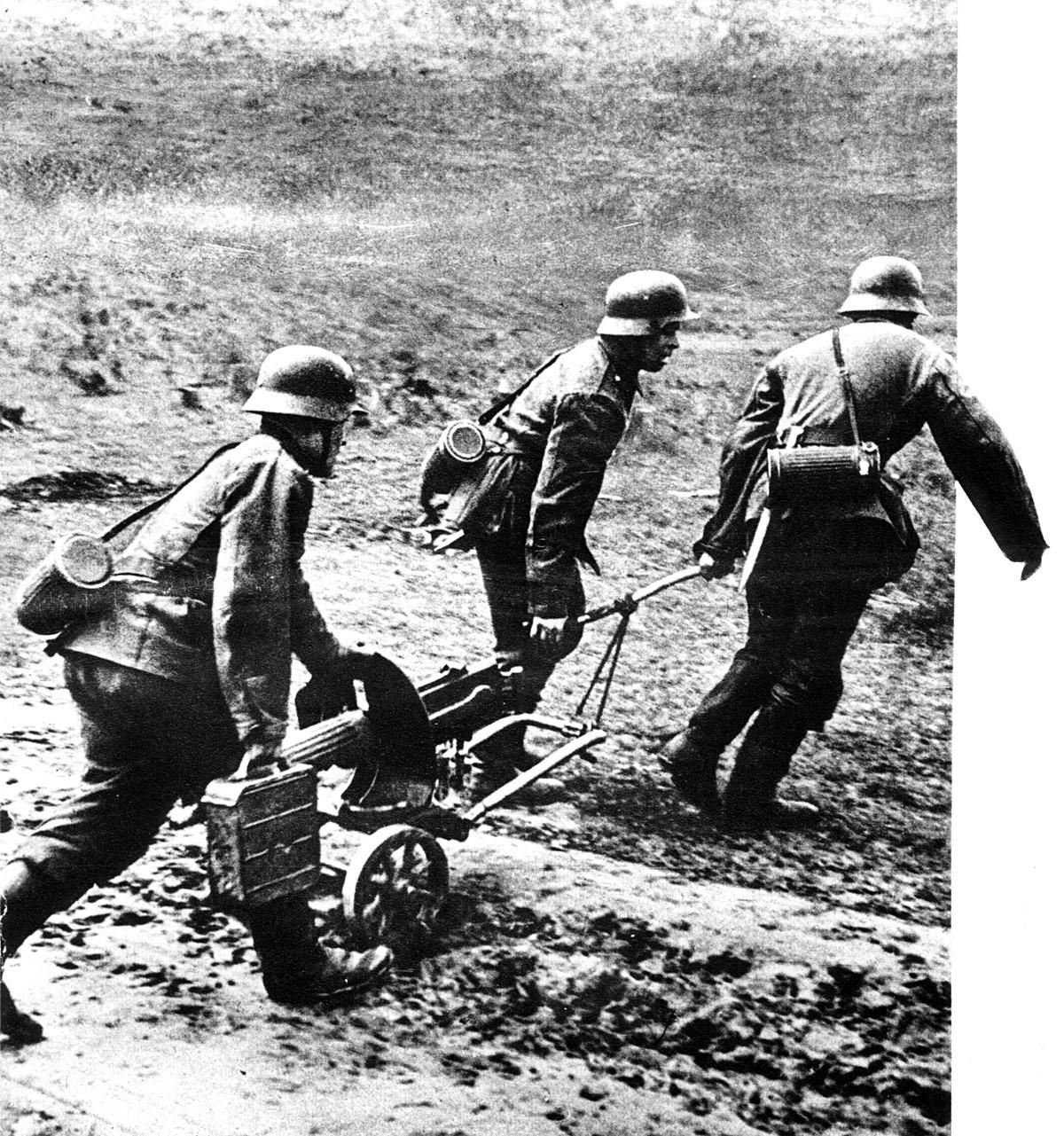Rusi u njemačkoj vojsci, Istočni front 1941.-1945. Detalj njemačkog propagandnog plakata.