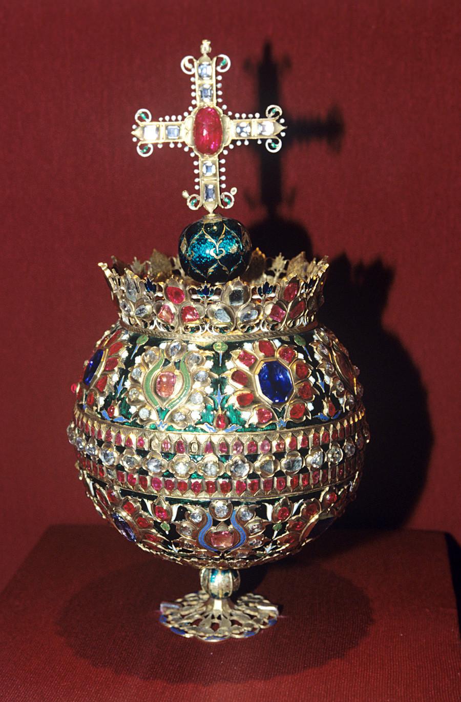 Кълбона император Алексей Михайлович (1629-1676). Константинопол, 1662 година. Държавен музей на културната история