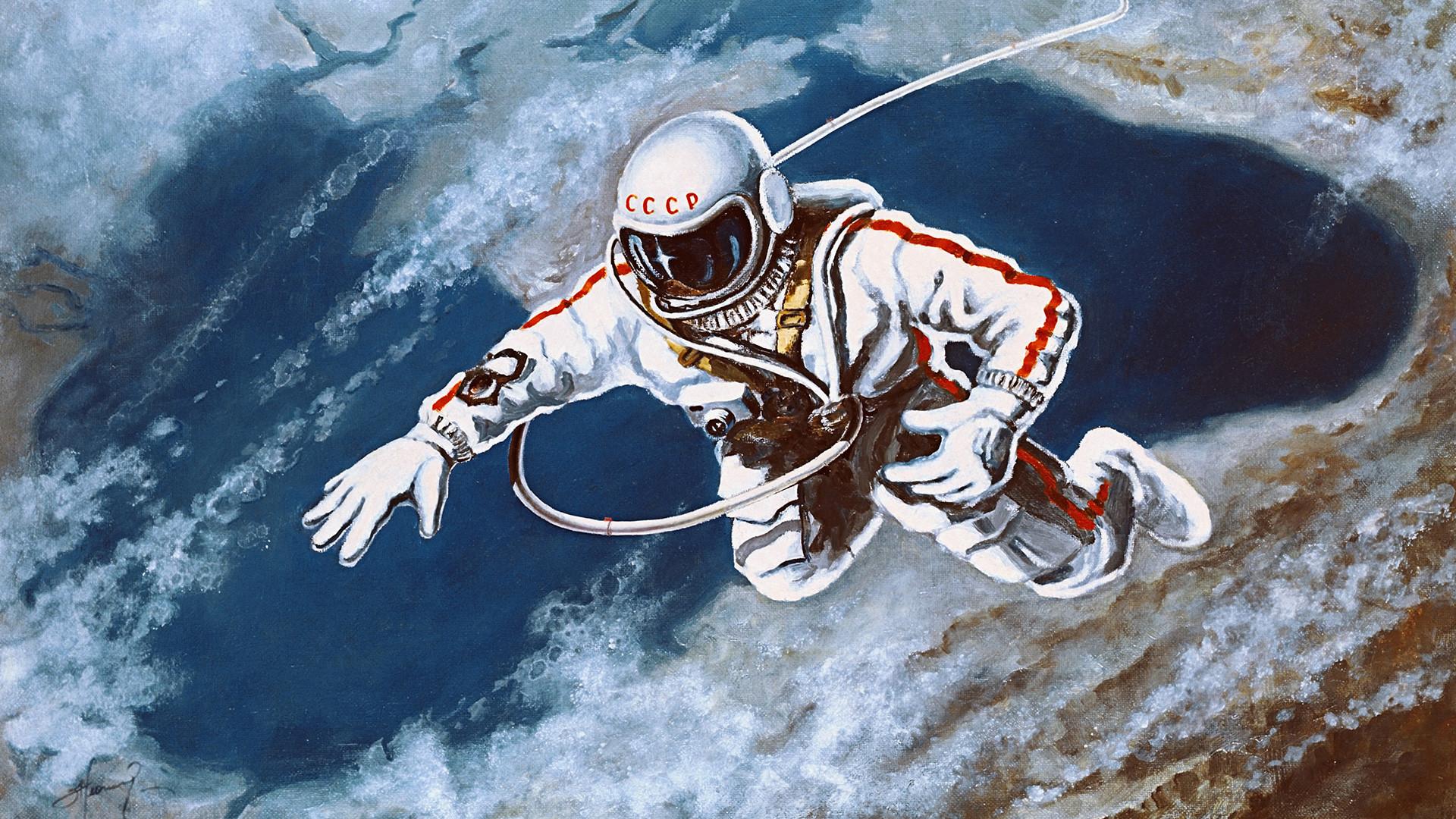 sketsa pemandangan luar angkasa