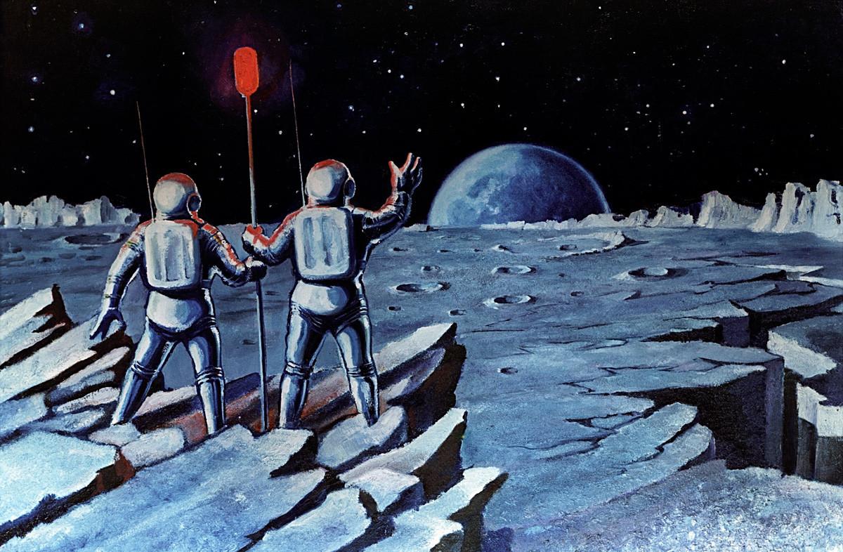коллекция рисунки космонавта леонова про космос же, как