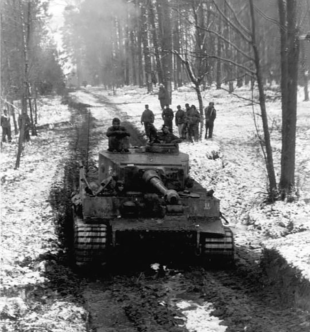 German Wehrmacht Tank Crew by Tiger Tank T-VI Eastern Front Russia