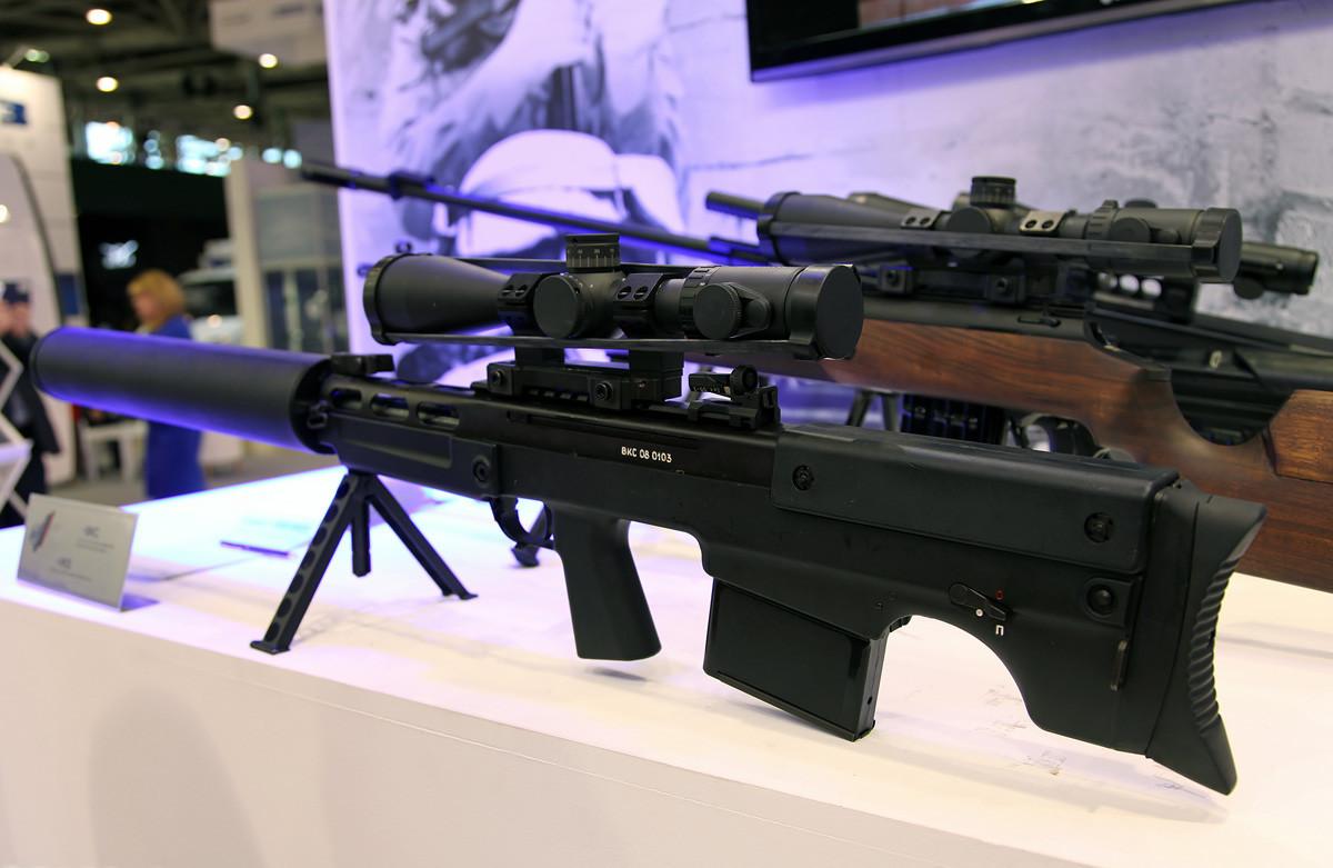 Fuzil de precisão silencioso VKS 12,7x55 mm