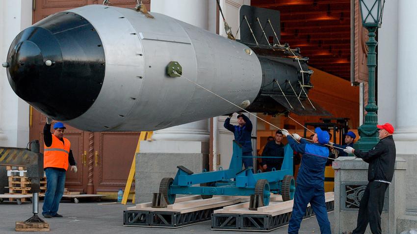 Prototipo de la bomba termonuclear probada el 30 de octubre de 1961.