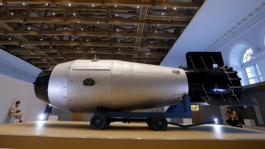Replika bombe AN602 v Moskvi
