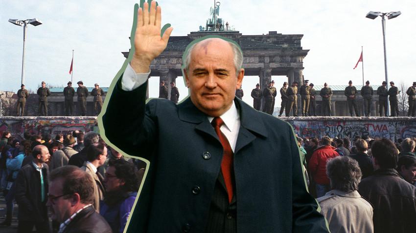 Михаил Горбачев не принимал участия в разрушении Берлинской стены, но не сделал ничего, чтобы ему воспрепятствовать.