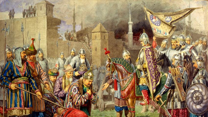 'El zar Iván IV conquistando Kazán en 1552' (1880).