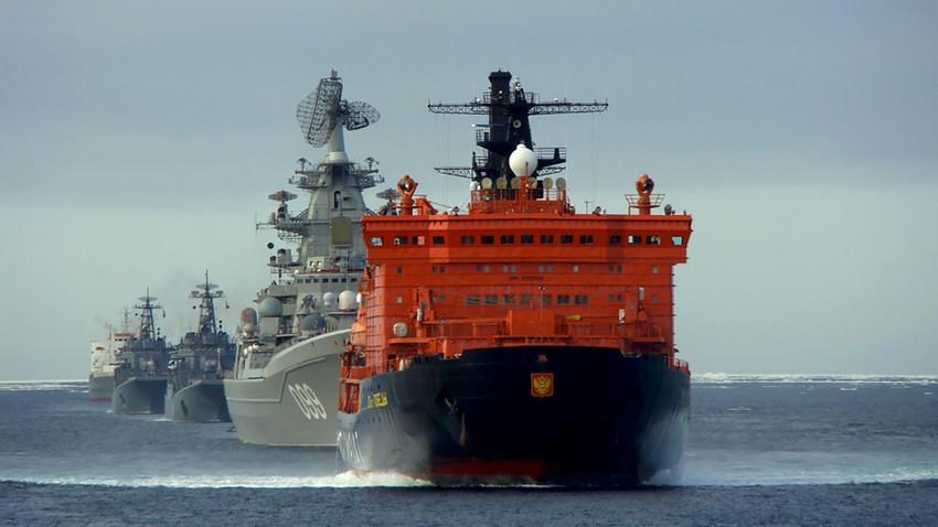 """Руският атомен ледоразбивач """"50 години Победа"""""""