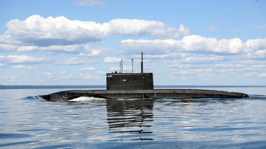 Sovjetska podmornica. Ilustracija.