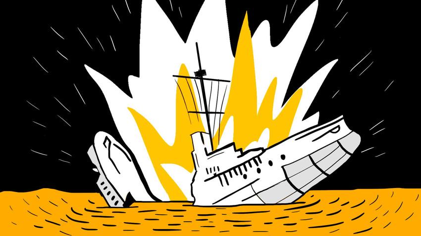 Poveljniška ladja Črnomorske flote je nenadoma eksplodirala.