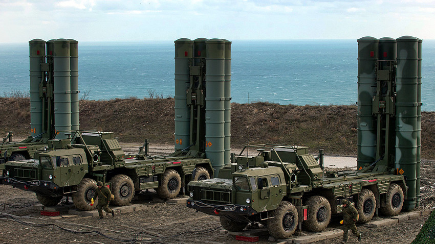 El sistema de defensa antimisiles S-400
