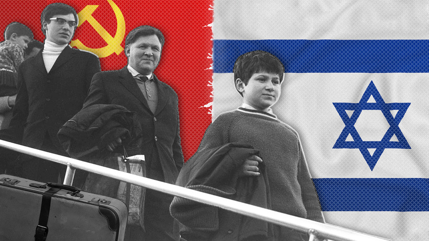 Soviet Jews leaving for Israel. Facing hidden anti-Semitism at home, they decided to find a new one.