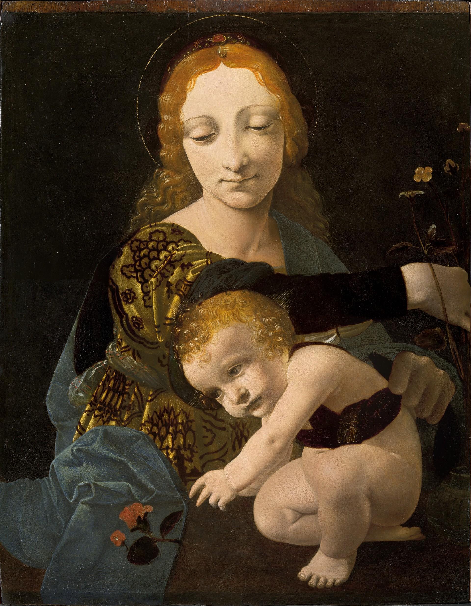 La Madonna con il Bambino di Giovanni Antonio Boltraffio, eseguita verso il 1485-1487 e custodita nel Museo Poldi Pezzoli