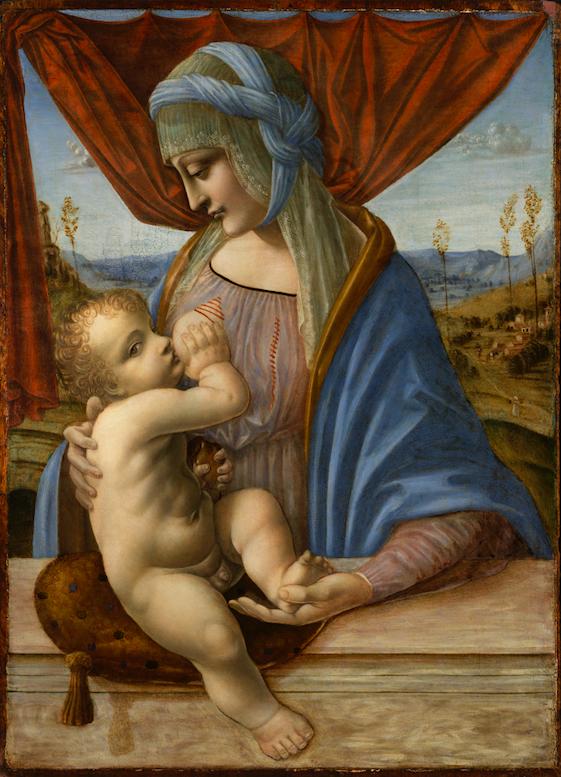 La Madonna allattante di un anonimo artista lombardo attivo nel primo decennio del '500 e custodita nel Museo Poldi Pezzoli