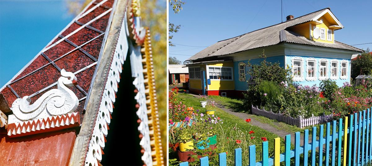 Levo: Hiša v Novosibirski regiji, 1981. Desno: Arhangelska regija, 2011.