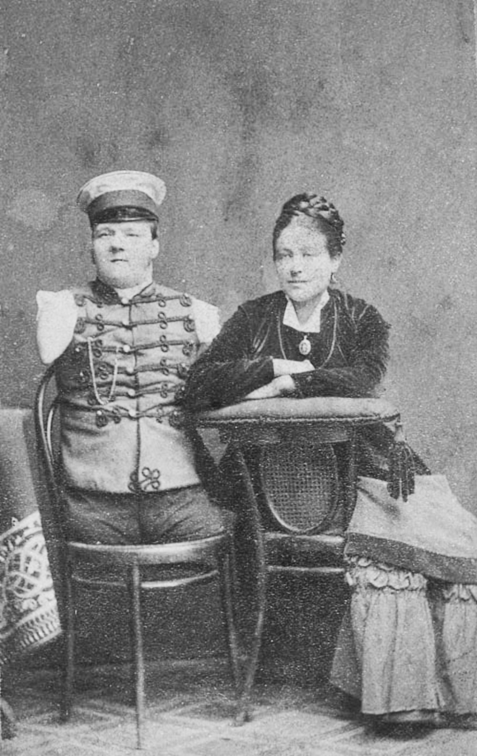 Nikolaj Kobelkov con sua moglie Anna