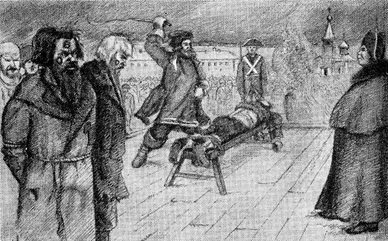 При Елизавете Петровне убивать преступников перестали: их секли кнутом, клеймили и отсылали на вечную каторгу.