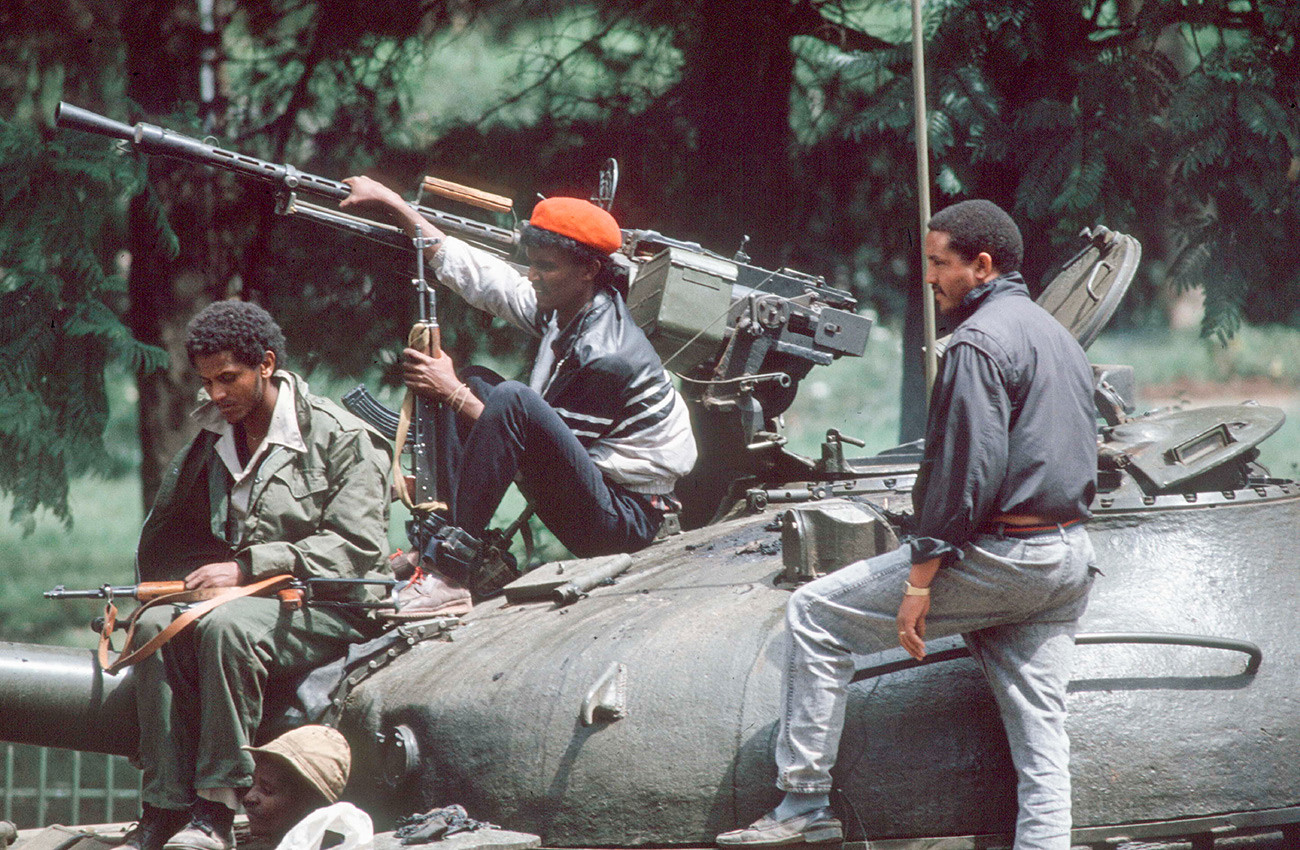Ethiopian pro-Soviet soldiers.