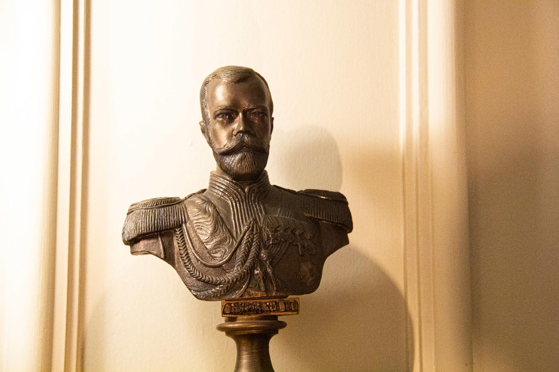 Busto do tsar Nikolai 2°.