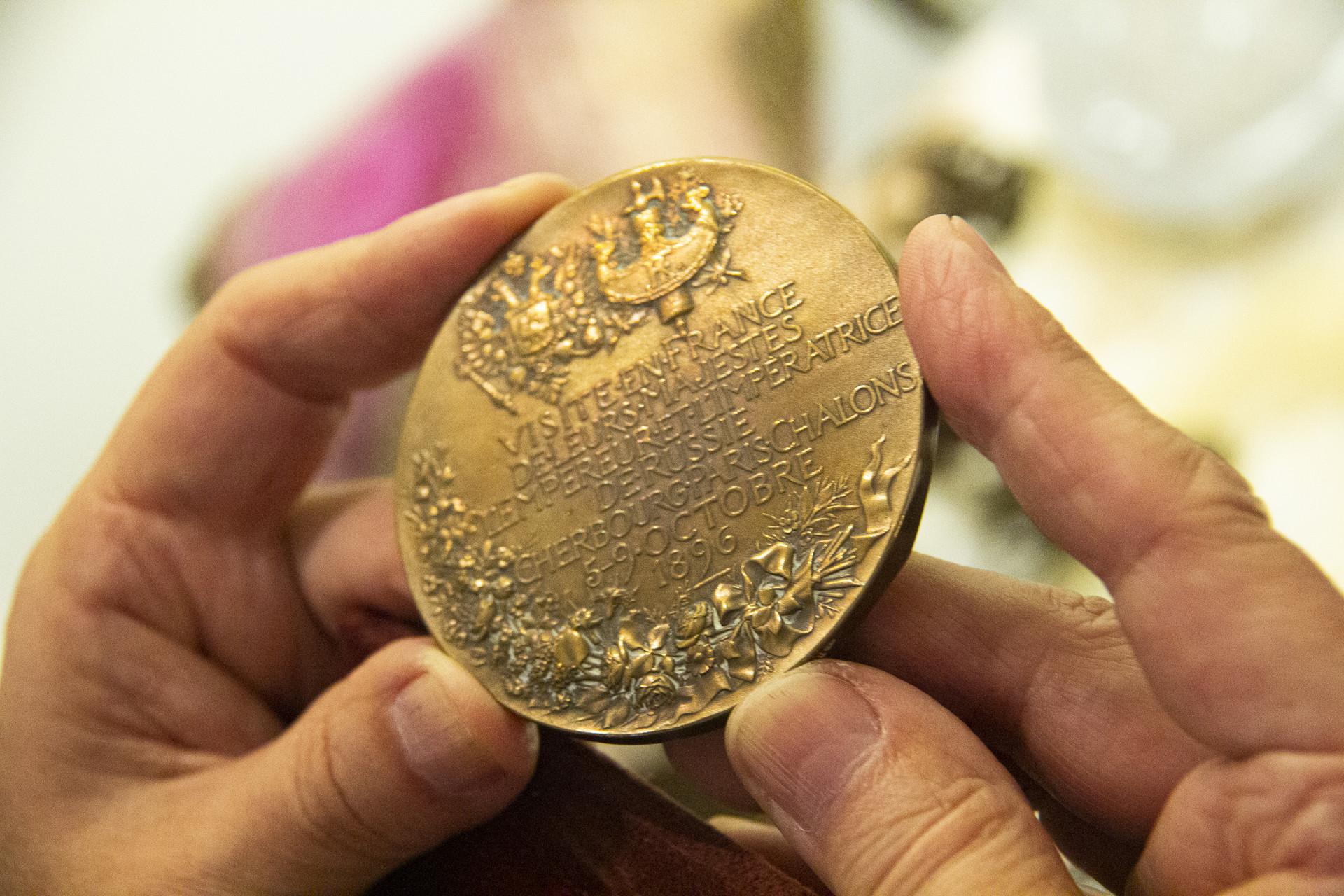 Medalha comemorativa da visita do tsar Nikolai à França.