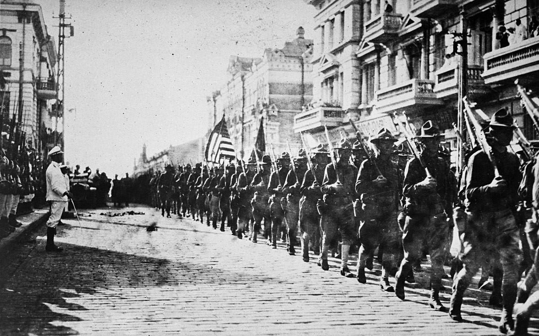 Tropas norte-americanas em Vladivostók. Agosto de 1918.