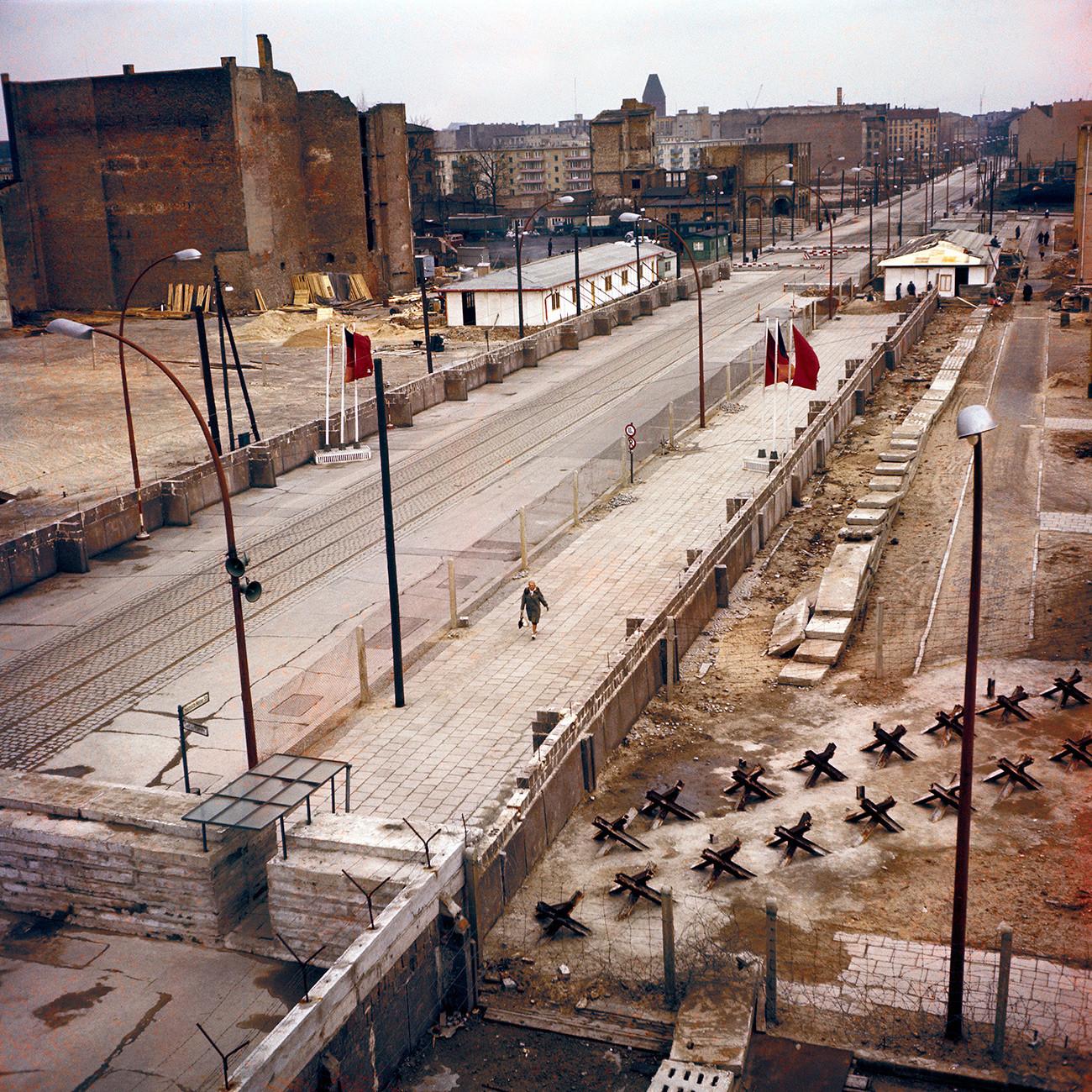 Il muro negli anni '70