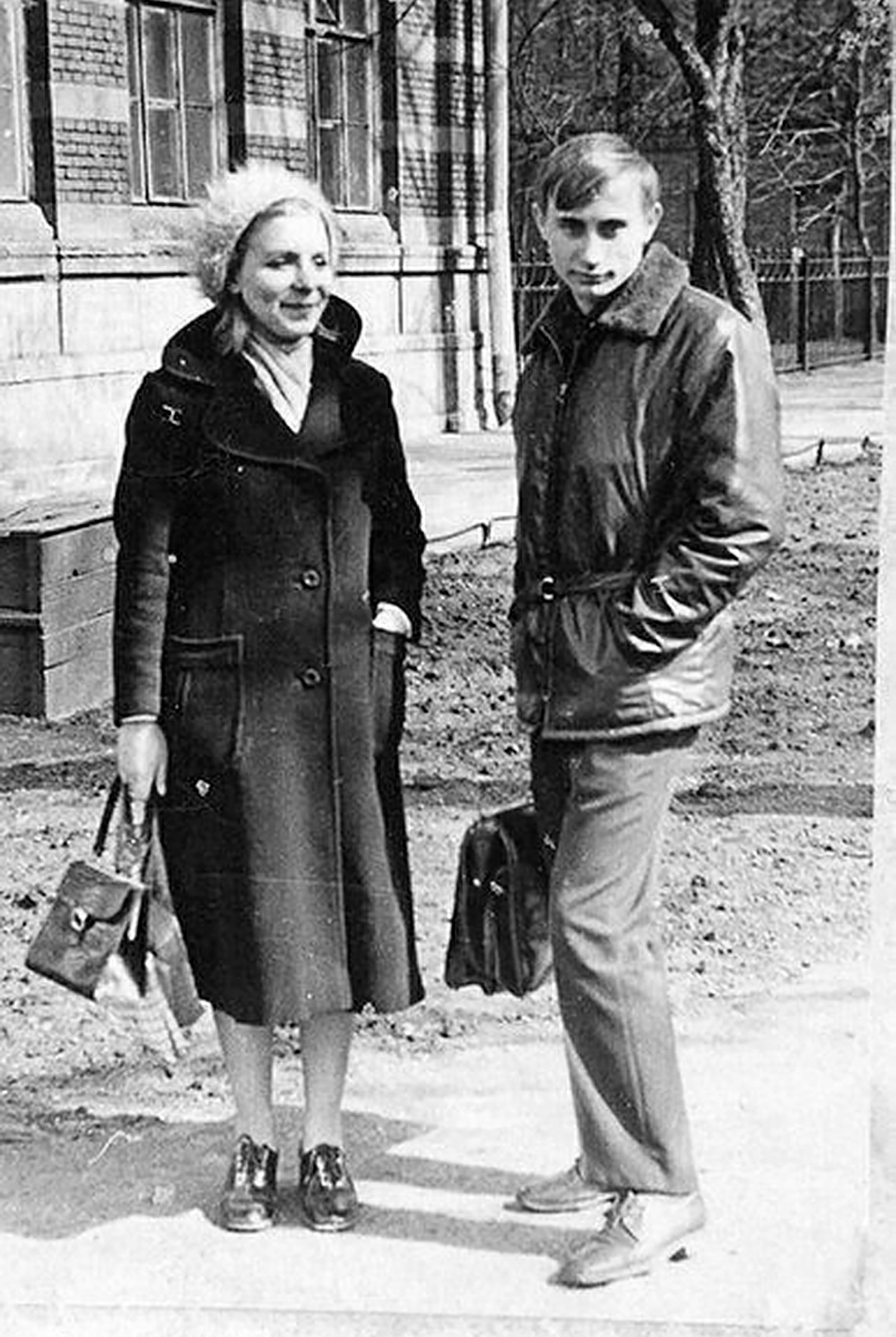 Putin with his future wife Lyudmila