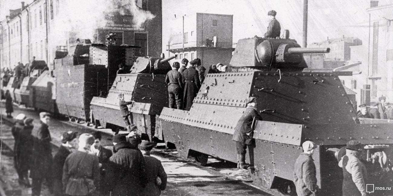 Moscow Metro armored train, 1943. Moscow's archive fund.