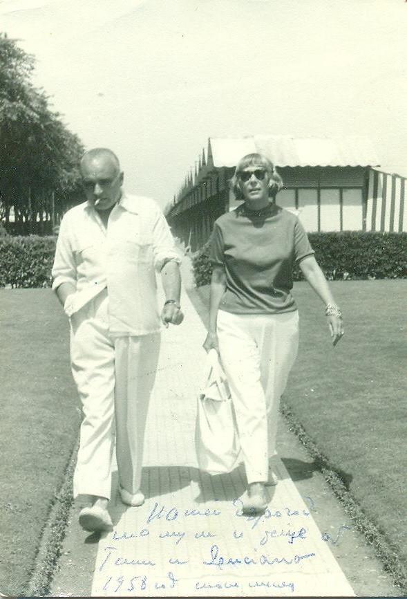 Gala Barbisan et son mari à Venise