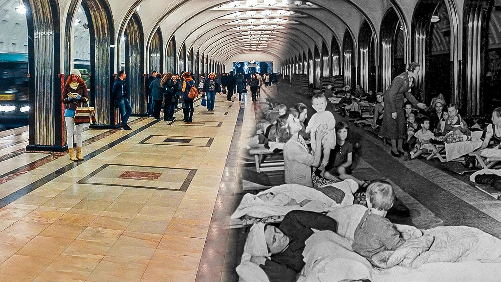 Resultado de imagem para Abrigo, cinema e até biblioteca: o metrô de Moscou durante a 2ª Guerra Mundial