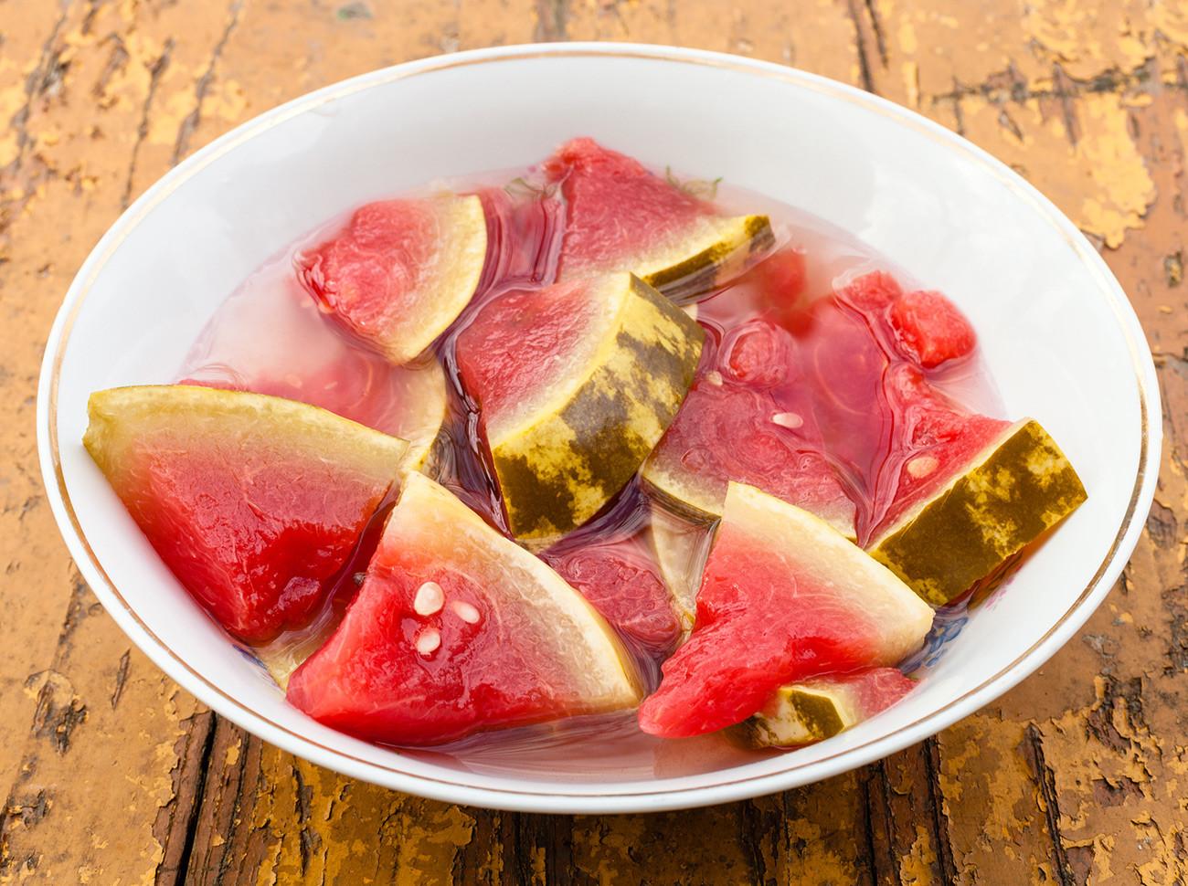 Gesalzene Wassermelone