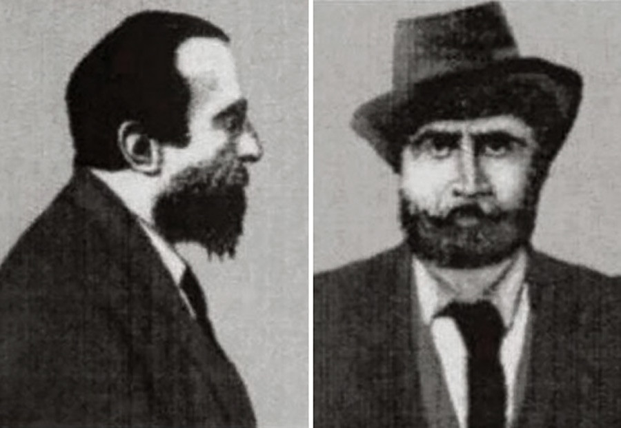 Savin photographed (poorly) after his arrest.