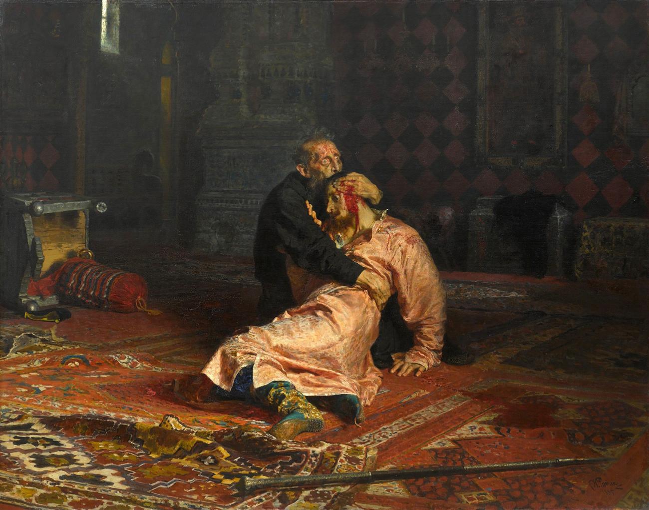 'Iván el Terrible y su hijo Iván, 16 de noviembre de 1581', obra de Iliá Repin.