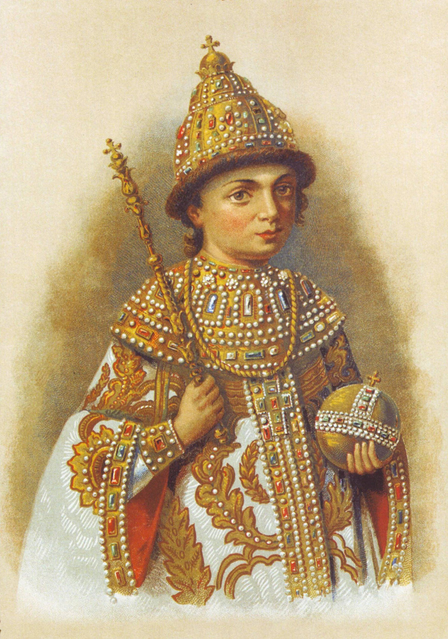 Peter the Great as a child