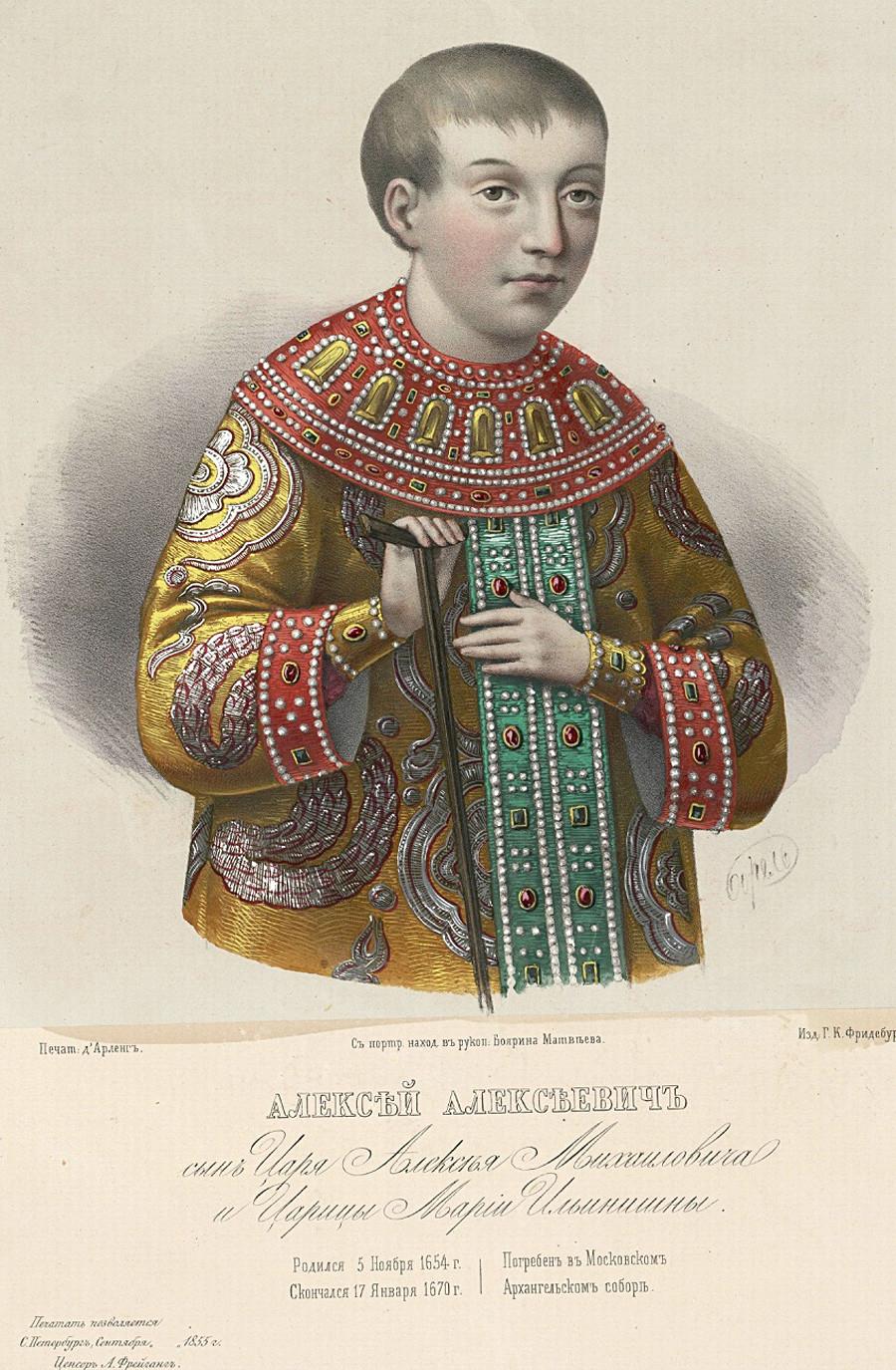 Alexei Alexejewitsch, der Sohn von Zar Alexei Michailowitsch
