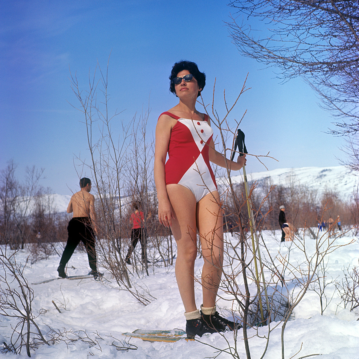 Vacanzieri sulla stazione sciistica Valle della Neve
