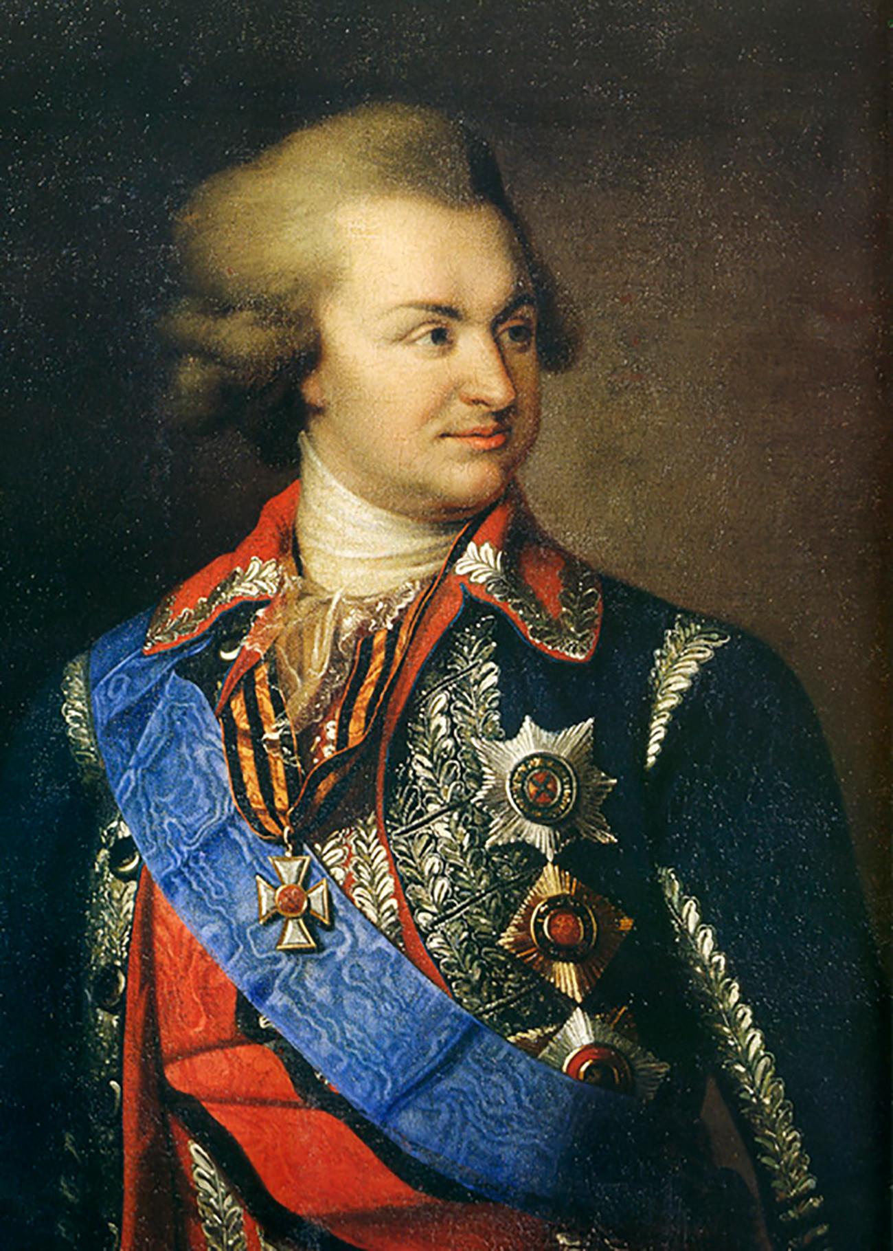 Il principe Grigorij Aleksandrovich Potemkin-Tauricheskij (1739-1791)