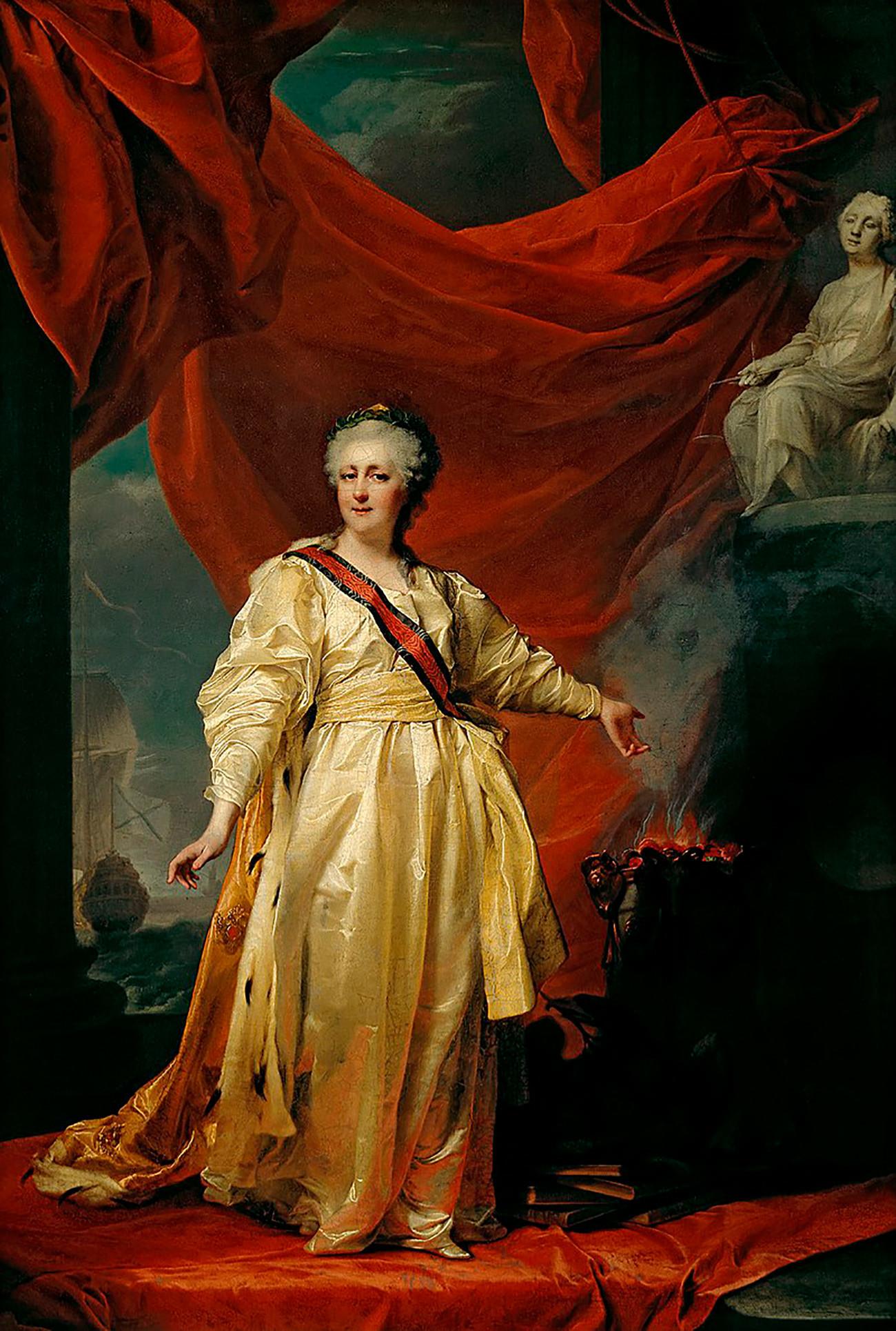 Caterina la Grande ritratta da Dmitrij Levitskij