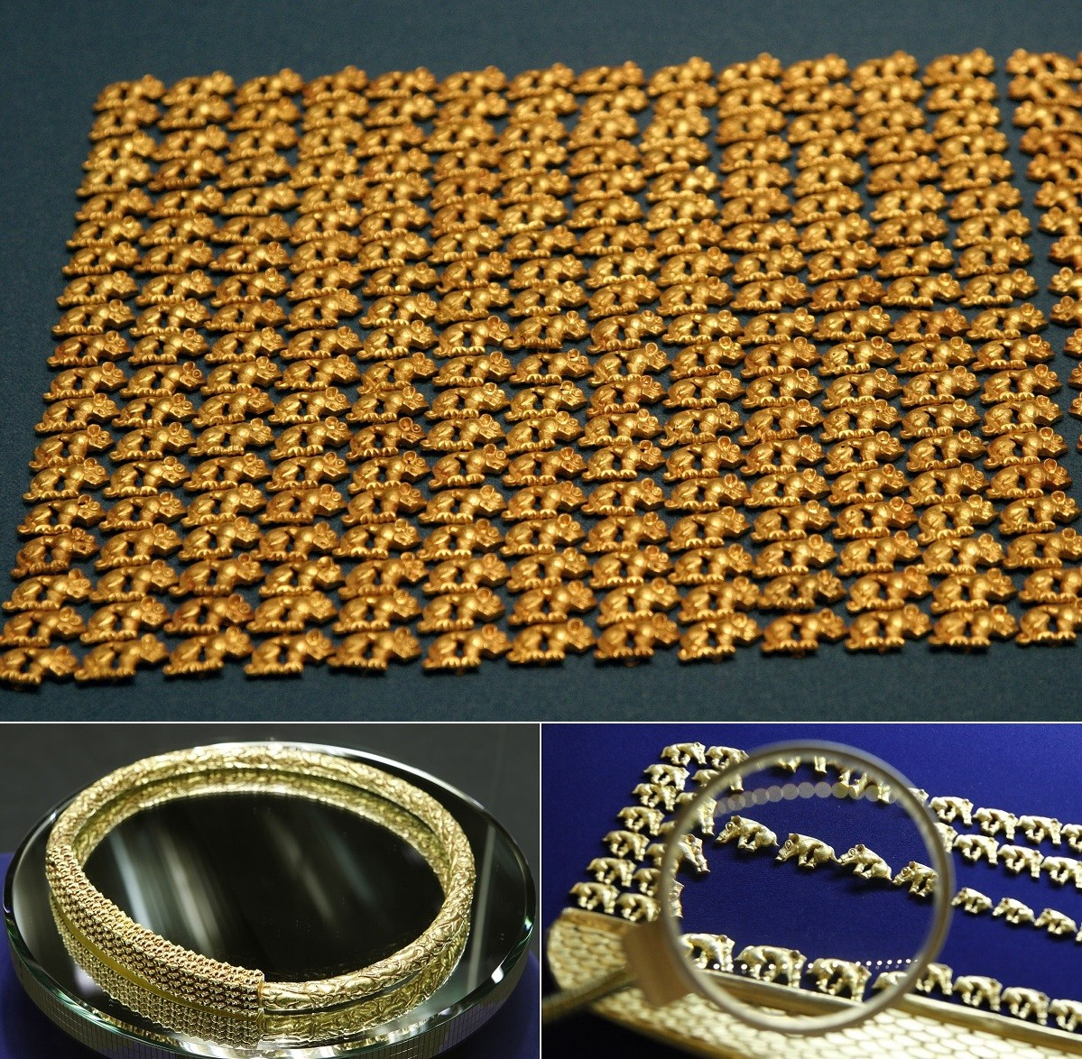 Y sont également jalousement gardés d'inestimables trésors : des artefacts scythes découverts dans la « Vallée des tsars », site archéologique majeur du Touva. Ces bijoux en or datant d'il y a près de 3 000 ans sont d'un raffinement tel, que leurs techniques de création restent encore incomprises.
