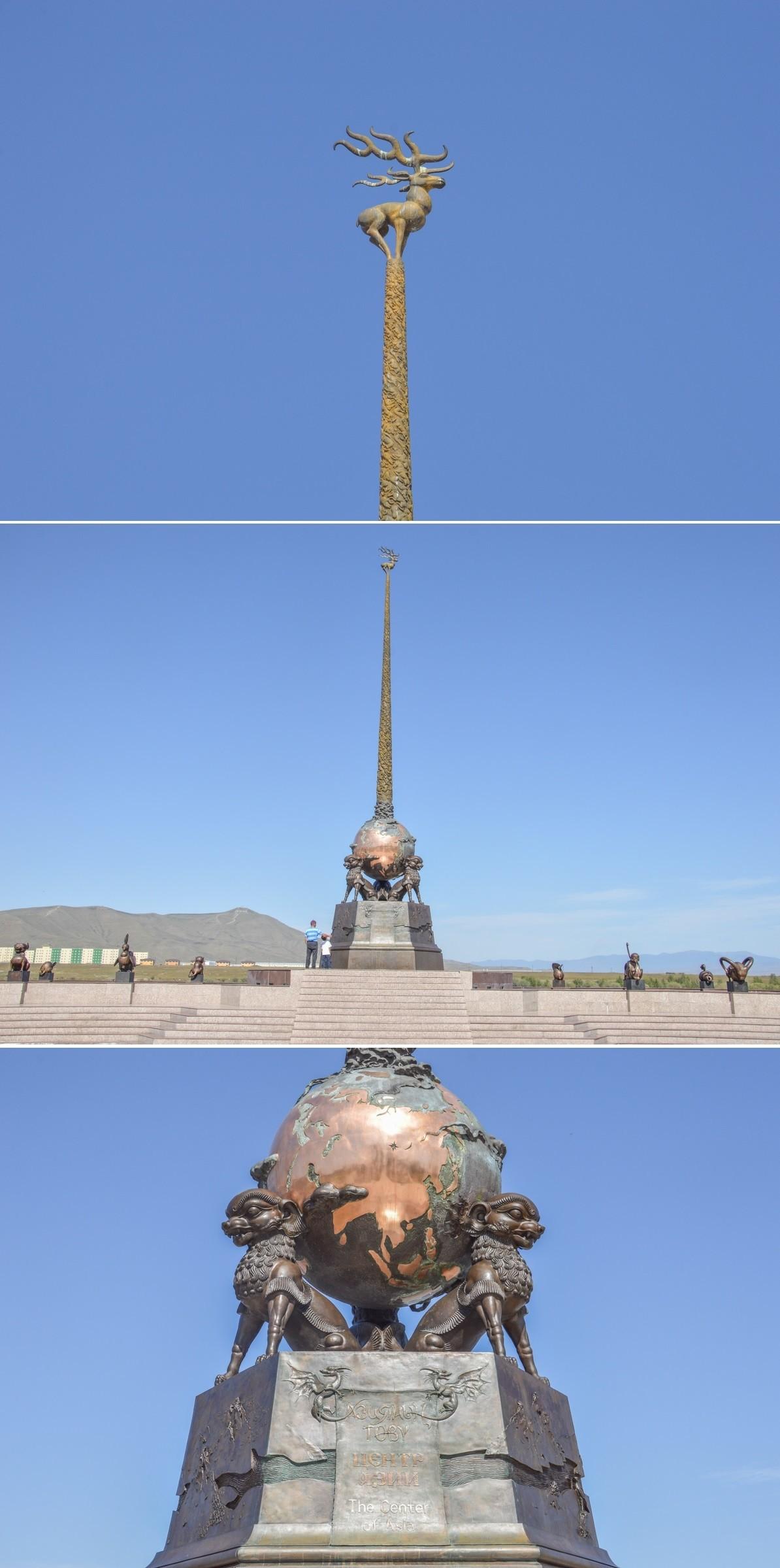 Un passé mouvementé s'expliquant par l'emplacement de ce territoire. Kyzyl apparaît en effet comme le centre géographique du continent asiatique, une particularité célébrée par un élégant obélisque sur les berges du puissant Ienisseï, prenant sa source non loin.